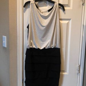 Black party dress with sequin